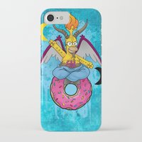 baphomet iPhone & iPod Cases featuring Homer The Baphomet by Conversa entre Adeptus