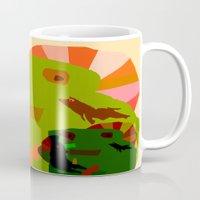 childish gambino Mugs featuring CHILDISH MOMENT by Duan Riley