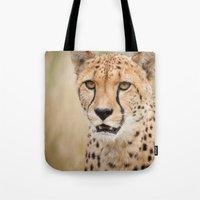 cheetah Tote Bags featuring Cheetah by Simon's Photography