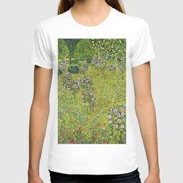 """Gustav Klimt """"Orchard with Roses (Obstgarten mit Rosen)"""" T-shirt"""