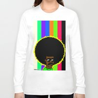 afro Long Sleeve T-shirts featuring AFRO by watsonpablov