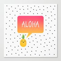 aloha Canvas Prints featuring Aloha by Elisabeth Fredriksson