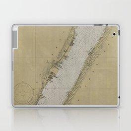 Vintage Map of The Hudson River (1930) Laptop & iPad Skin