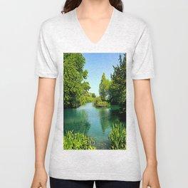 Aqua Lake Unisex V-Neck