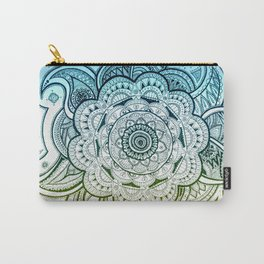 Mandala Blue Yellow Carry-All Pouch