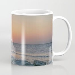 Sunrise at the Battery Seawall Fort Fisher NC Coffee Mug
