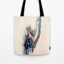 Simple Blue Fluid Flow Abstract Tote Bag