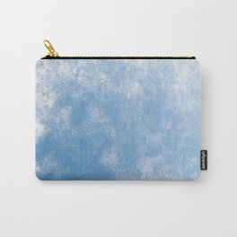 Blue abstract of condensation water flowing down Carry-All Pouch
