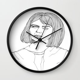My Kind Of Woman Lines Wall Clock