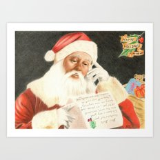 Letter to Santa Claus Art Print