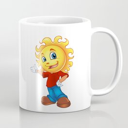 Happy Sun Cartoon Mascot  Coffee Mug