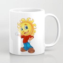 Happy Sun Cartoon Mascot  Coffee Mug