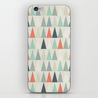 triangles iPhone & iPod Skins featuring Triangles by Dizzy Moments