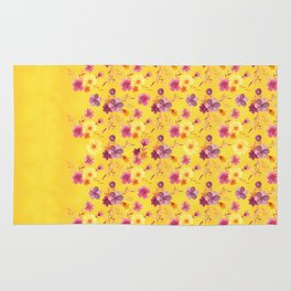 Golden // Sunny Floral Print Rug