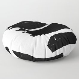 Ebony & Ivory Floor Pillow