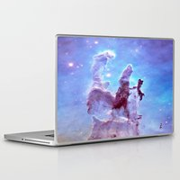thanos Laptop & iPad Skins featuring nEBulA Pastel Blue & Lavender by 2sweet4words Designs