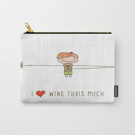 I love wine boy Carry-All Pouch