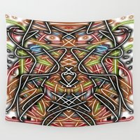tribal Wall Tapestries featuring Tribal  by Nancy Smith
