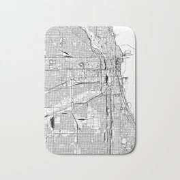 Chicago White Map Bath Mat