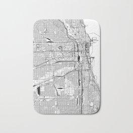 Chicago White Map Bath Mat