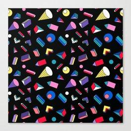 3D Shapes - 90's Pattern Canvas Print