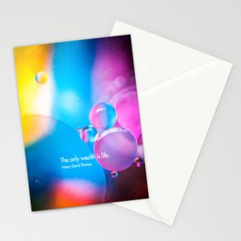 the only wealth is life Stationery Cards