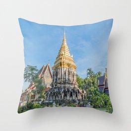 Wat Chiang Man II_Thailand Throw Pillow