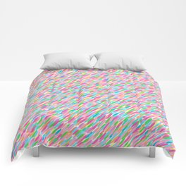 it's raining sideways! rainbow edition Comforters
