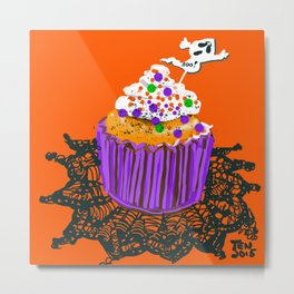 James' Halloween Birthday Metal Print