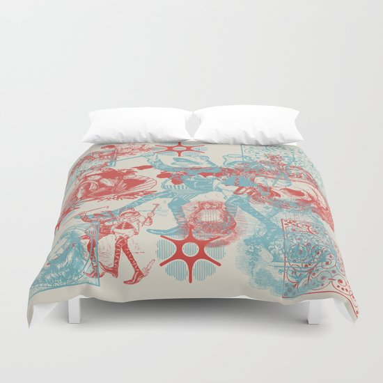 Time We Left This World Today Duvet Cover