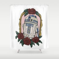 r2d2 Shower Curtains featuring R2D2 by Bare Wolfe
