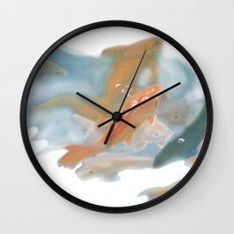 koi {white} Wall Clock