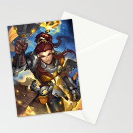 over brigette watch Stationery Cards