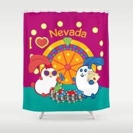 Ernest and Coraline | I love Nevada Shower Curtain