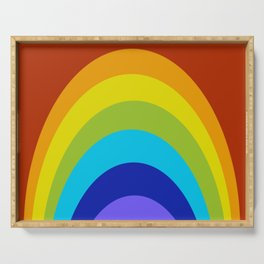 Abstract Rainbow Serving Tray