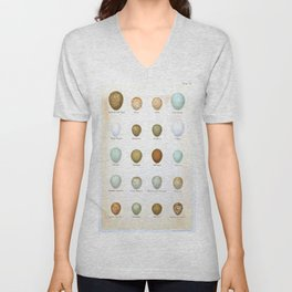 Vintage Bird Eggs  Unisex V-Neck