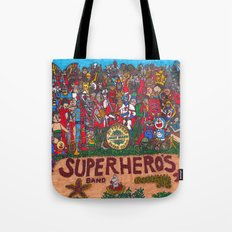 SGT. PEPPER'S LONELY HEARTS SUPERHERO'S BAND Tote Bag