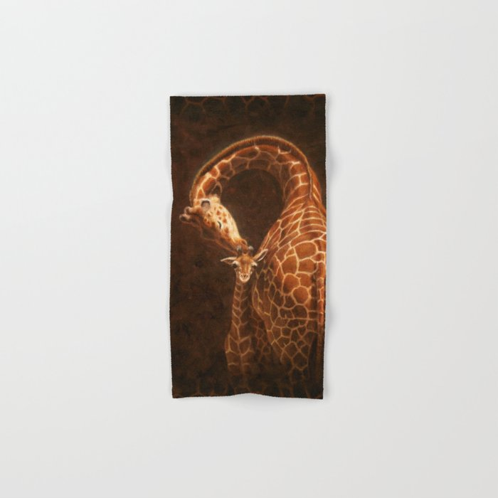 Reticulated Giraffe Mother and Baby Hand & Bath Towel
