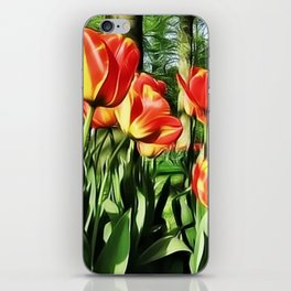 Tulips in the park iPhone Skin