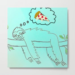 The Perfect Pizza Metal Print
