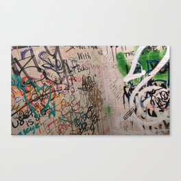 Random Graffiti Canvas Print