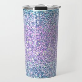 Blue & Lilac Mermaid Glitter Ombre Travel Mug