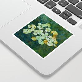 Tranquil lily pond Sticker