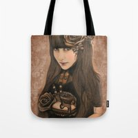 chocolate Tote Bags featuring Chocolate by Sheena Pike ART