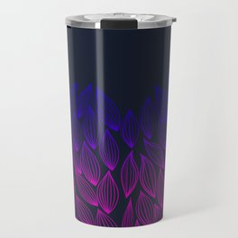Autumn blue-pink leaf fall. Travel Mug