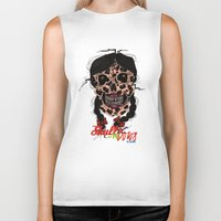 bows Biker Tanks featuring Skull-N-Bows by KNIfe