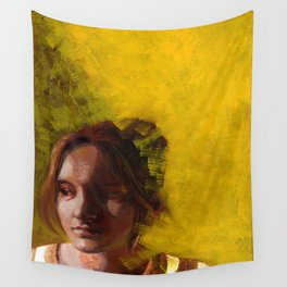 Megan, Fine Art Oil Painting Portrait Print Wall Tapestry
