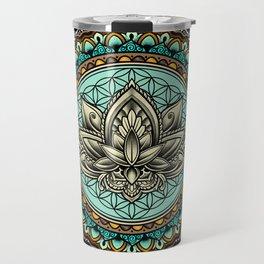 Lotus Mandala Pattern Travel Mug
