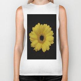 Yellow Gerber Daisy Biker Tank
