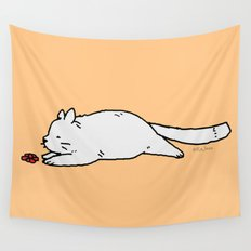 The Curious Cat Wall Tapestry